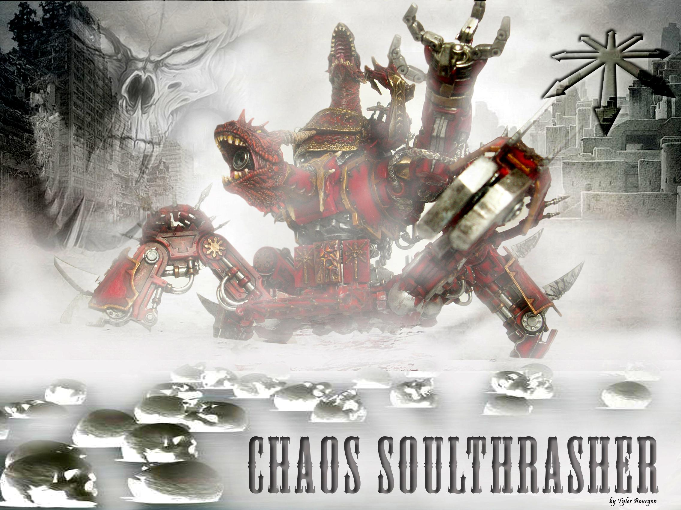 Chaos, Chaos Daemons, Chaos Space Marines, Conversion, Daemons, Khorne, Soul Grinder, Warhammer 40,000