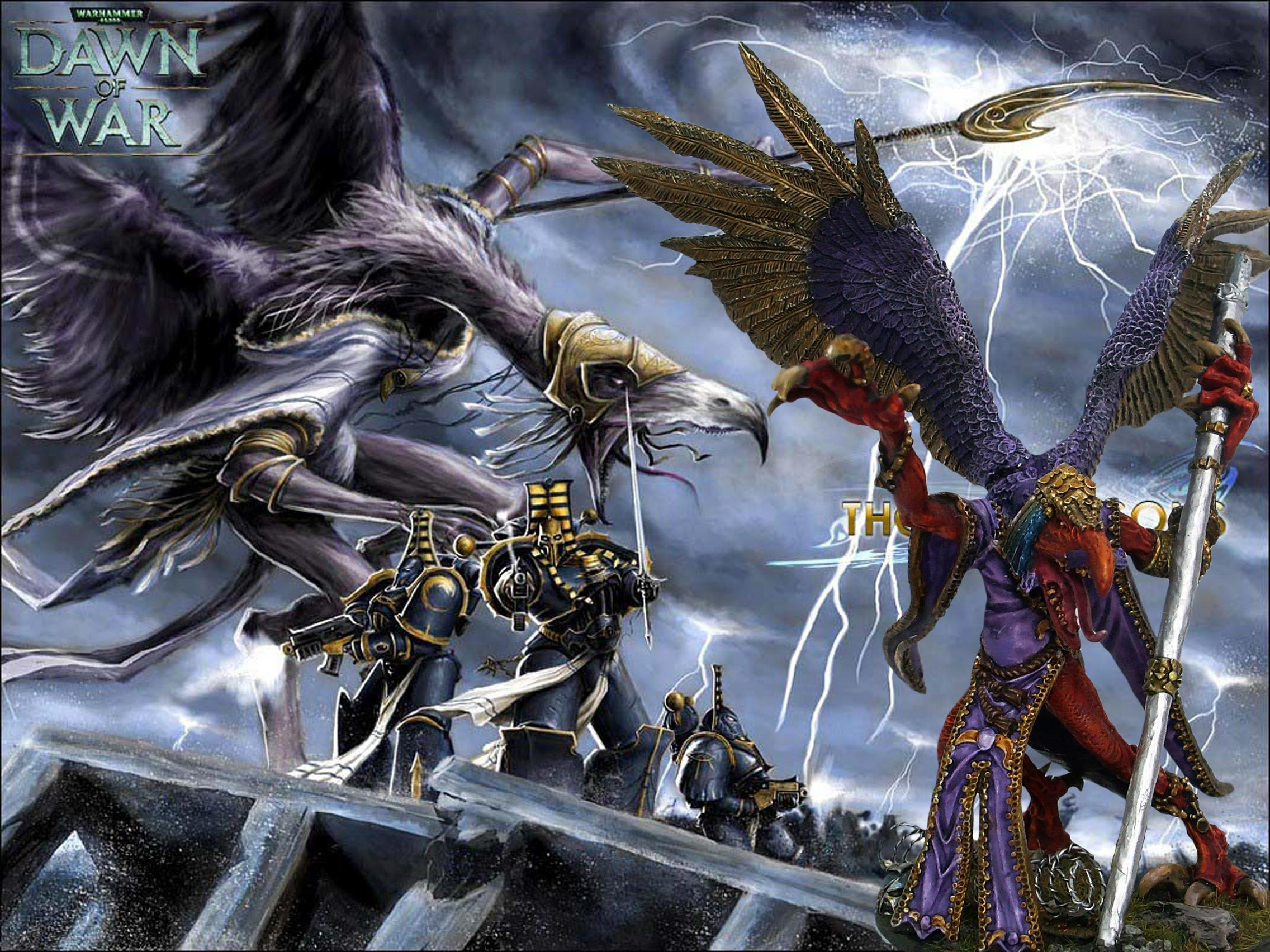 Chaos, Chaos Daemons, Chaos Space Marines, Conversion, Daemons, Greater Demon, Khorne, Lord Of Change, The Oracle, Tzeench, Warhammer 40,000