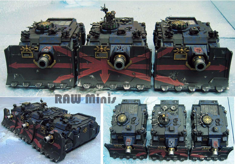 Apocalypse, Chaos, Chaos Space Marines, Conversion, Linebreaker, Painting, Tank, Vindicator, Warhammer 40,000