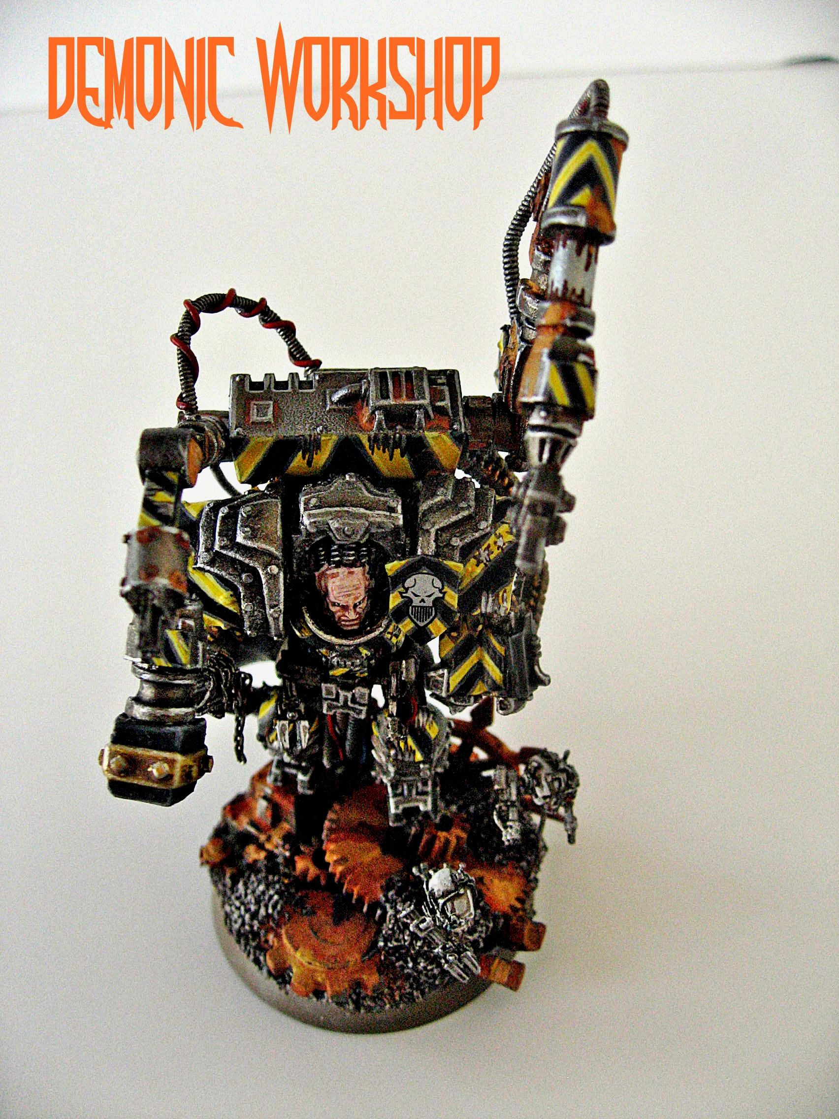 28mm, Awesome, Based, Chaos, Chaos Space Marines, Conversion, Custom, Iron Warriors, Mecha Tendrils, Painted, Warhammer 40,000, Warpsmith