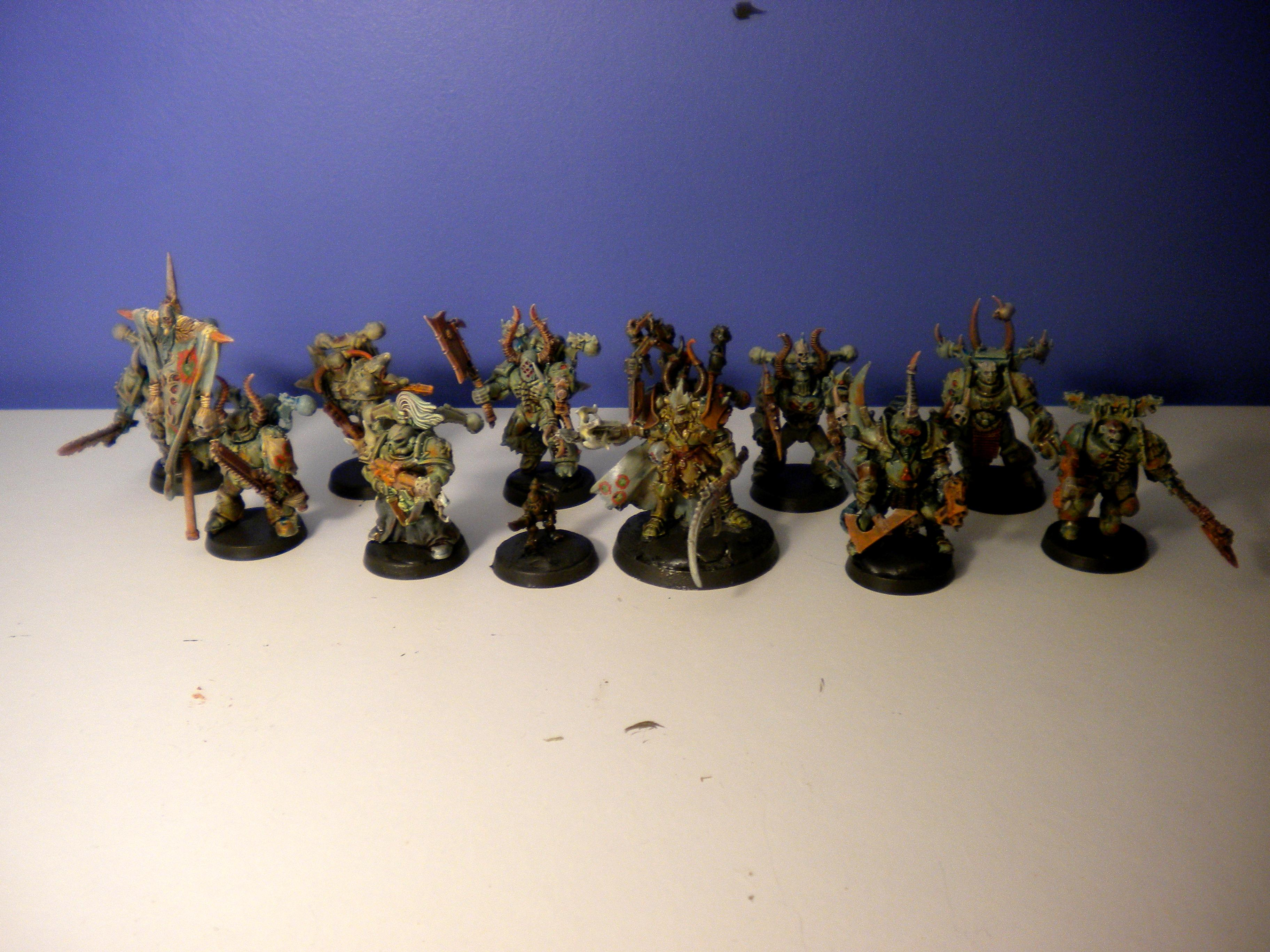 Chaos, Chaos Army, Chaos Rhino, Chaos Space Marines, Conversion, Daemon Prince, Defiler, Nurgle, Nurgle Army, Painted Chaos, Plague Marines
