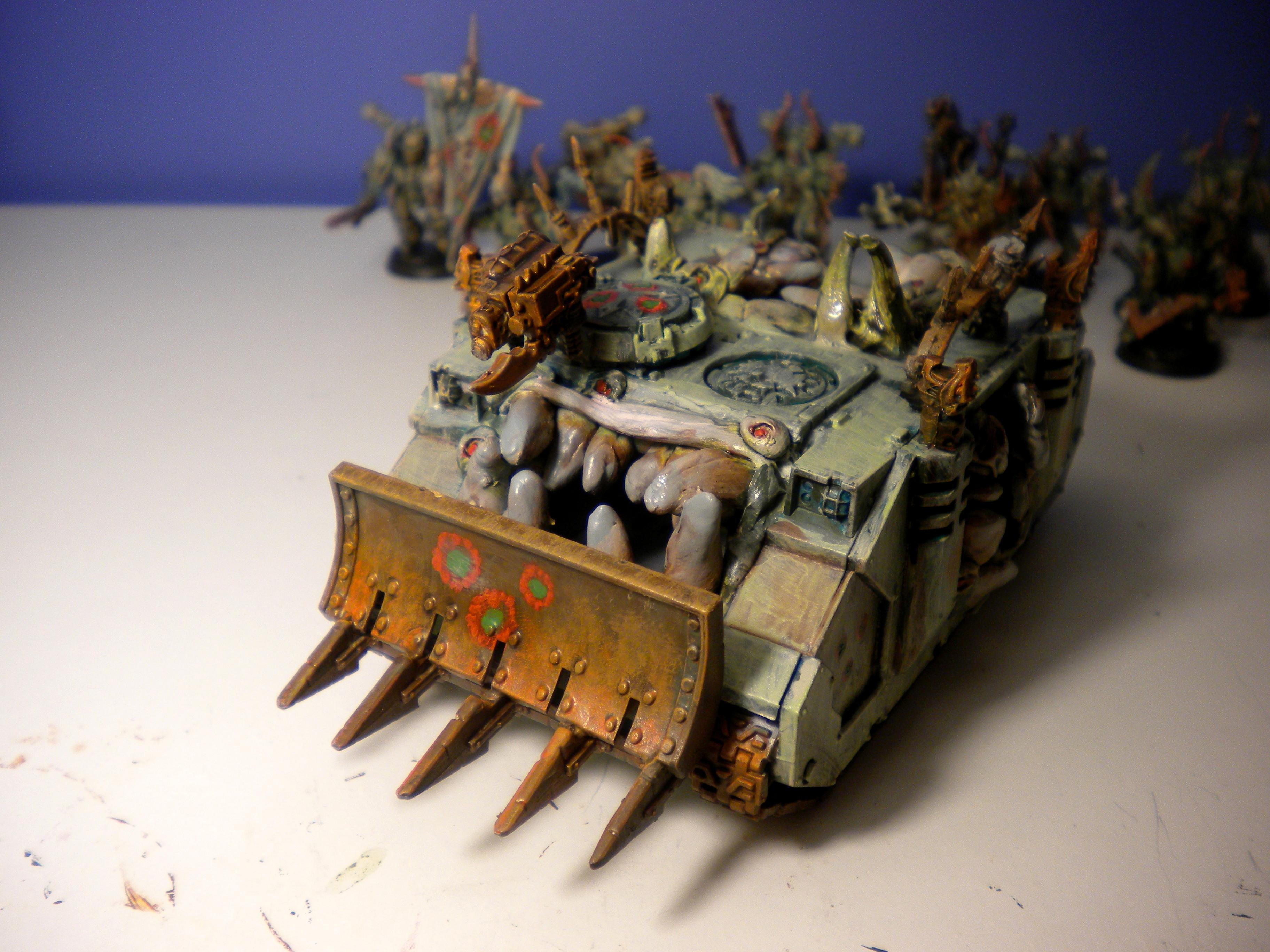 Chaos, Chaos Army, Chaos Rhino, Chaos Space Marines, Conversion, Daemon Prince, Defiler, Nurgle, Nurgle Army, Painted Chaos, Plague Marines