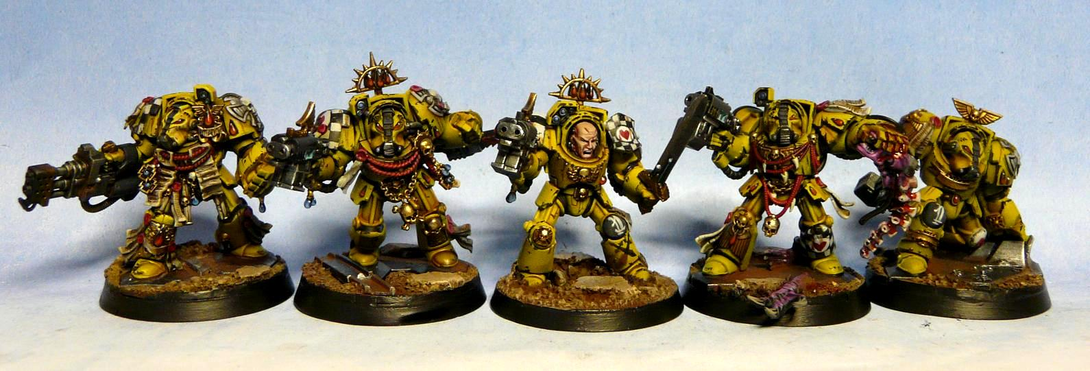 Badab War, Lamenters, Painted, Space Marines, Termies, Terminator Armor