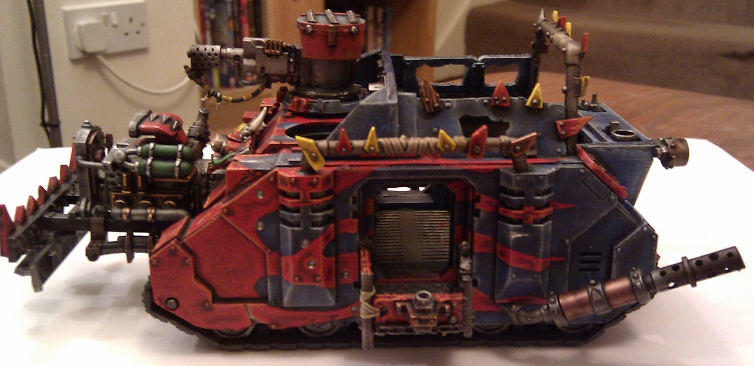 Conversion, Looted Wagon, Mekboy Junka, Orks, Rhino, Work In Progress