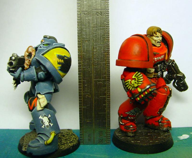 Blood Angels, Space Marines, Space Wolves, True Scale