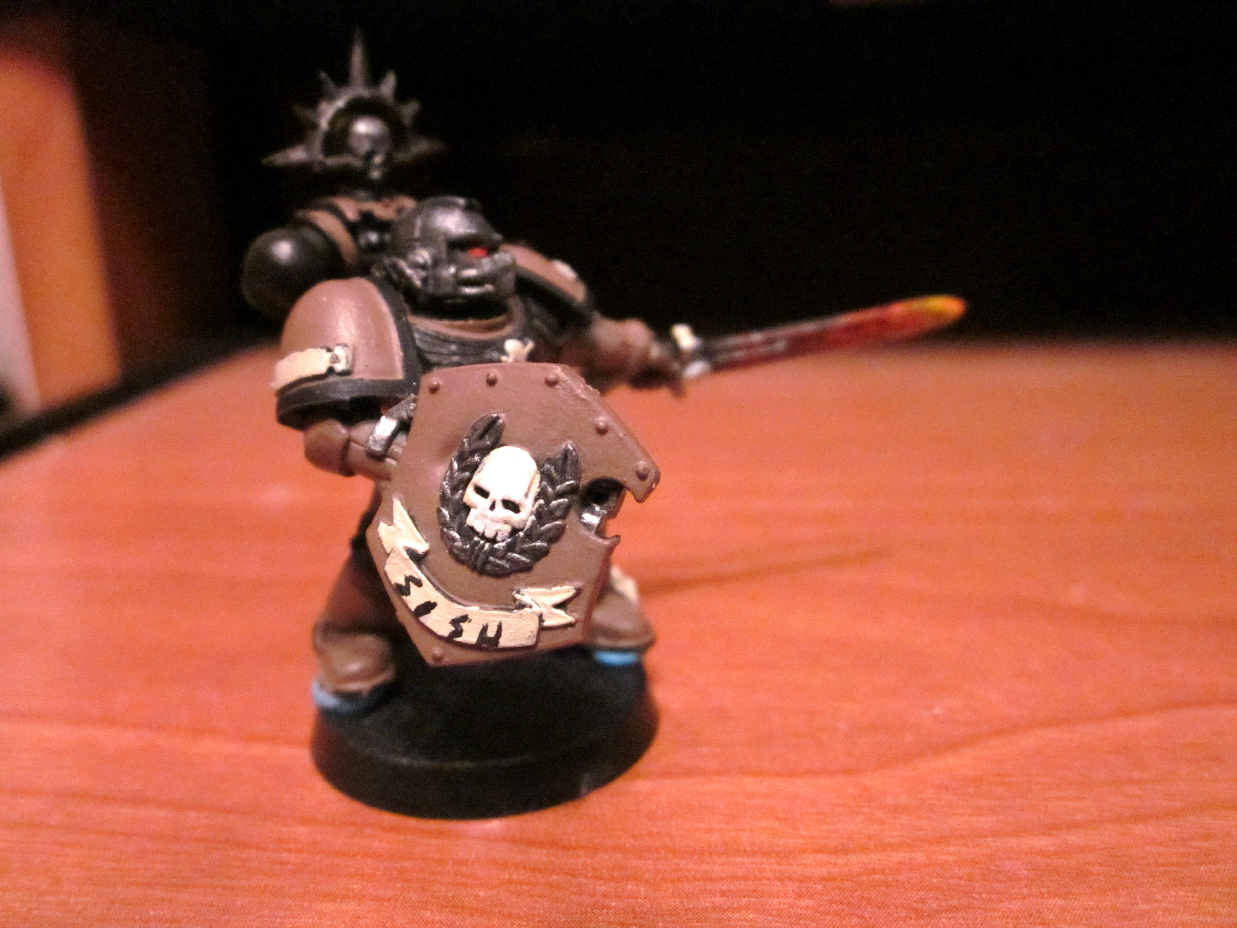 Brown, Champion, Fire, Power Sword, Space Marines