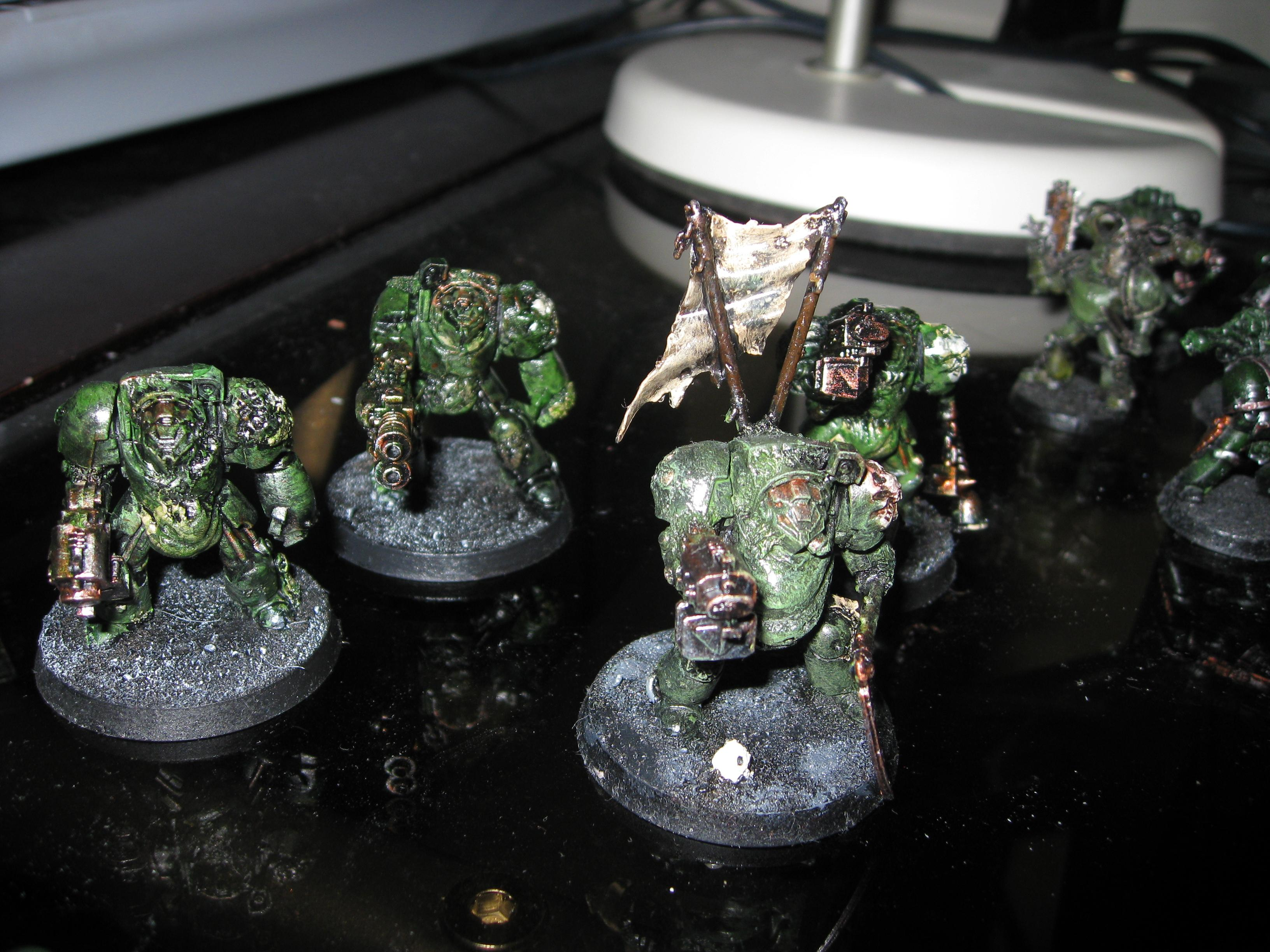 Aobr Terminator, Chaos Space Marines, Conversion, Death Guard, Nurgle, Plague Marines, Terminator Armor, Terminator Lord