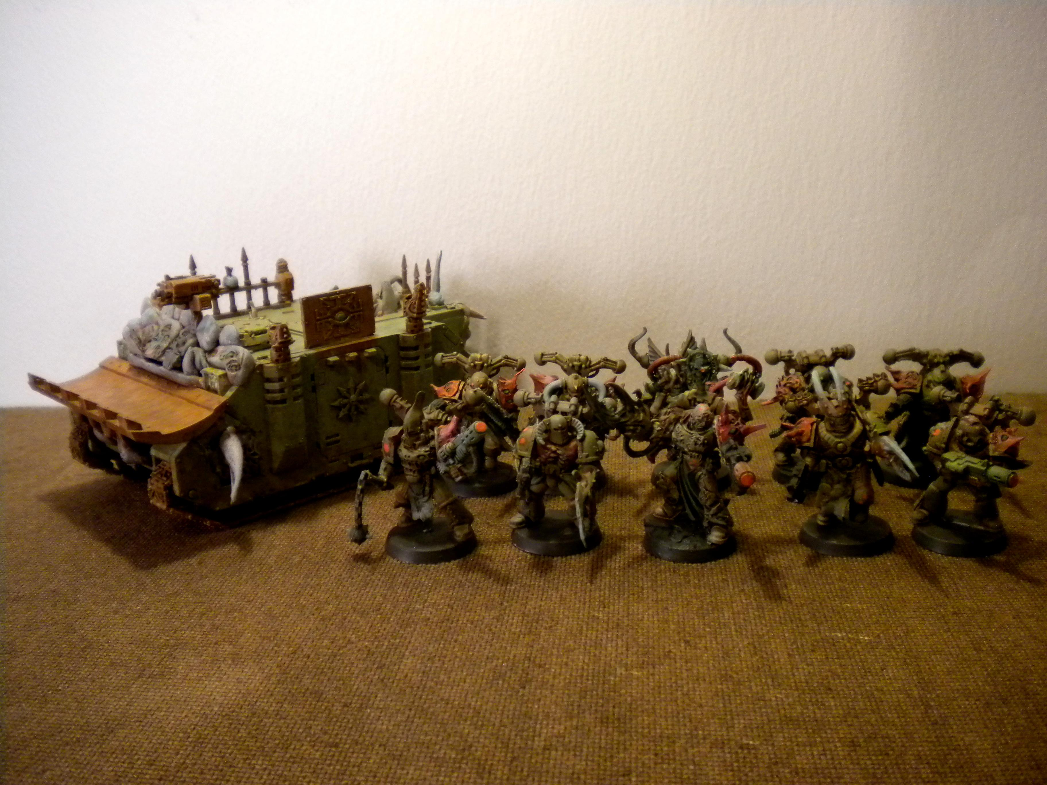 Chaos Space Marines, Green, Orange, Squad, Warhammer 40,000