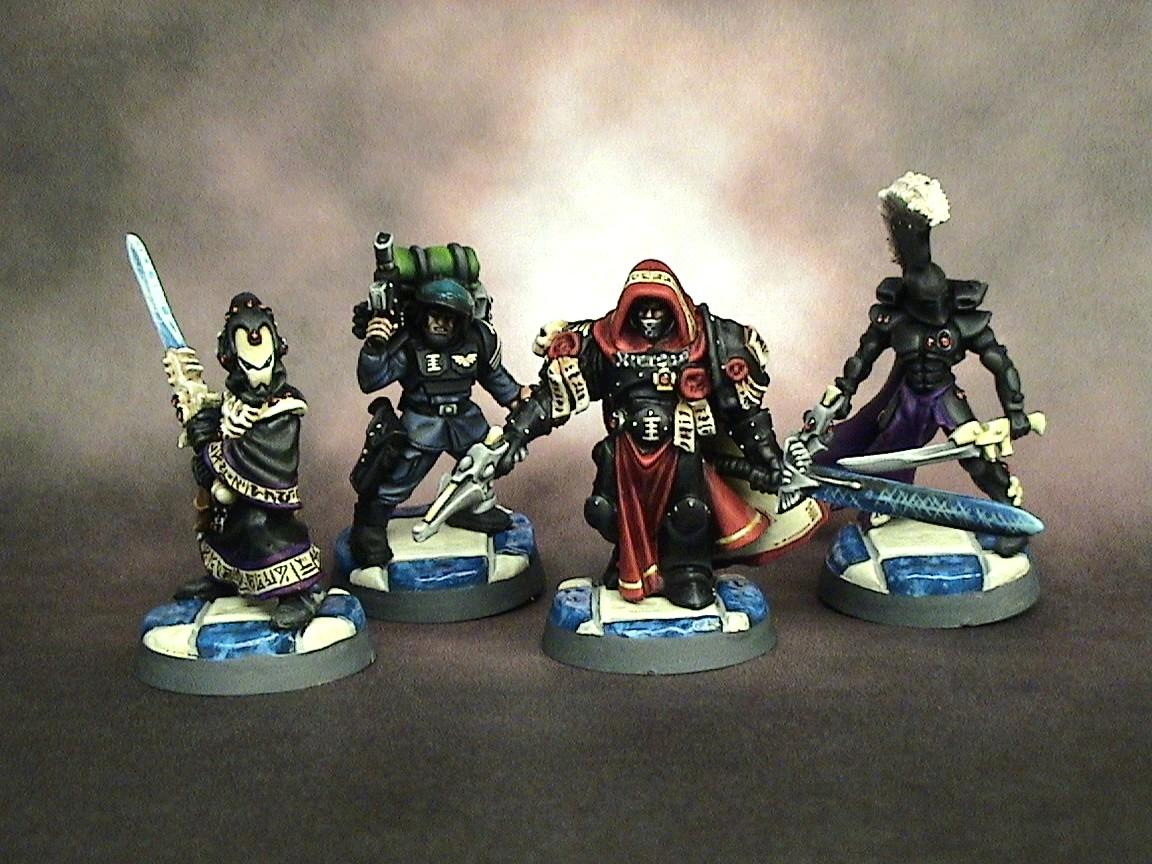 =][=munda, Dire Avengers, Eldar, Henchmen, Imperial Guard, Inquisition, Inquisitor, Quarter Master, Warhammer 40,000, Warlock