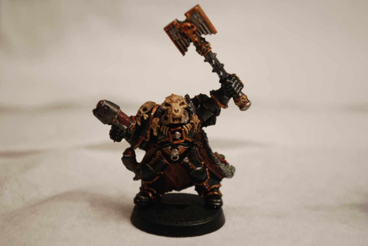 Arjac Rockfist, Grey Hunters, Logan Grimnar, Njal, Rune Priest, Space Wolves, Ulrik
