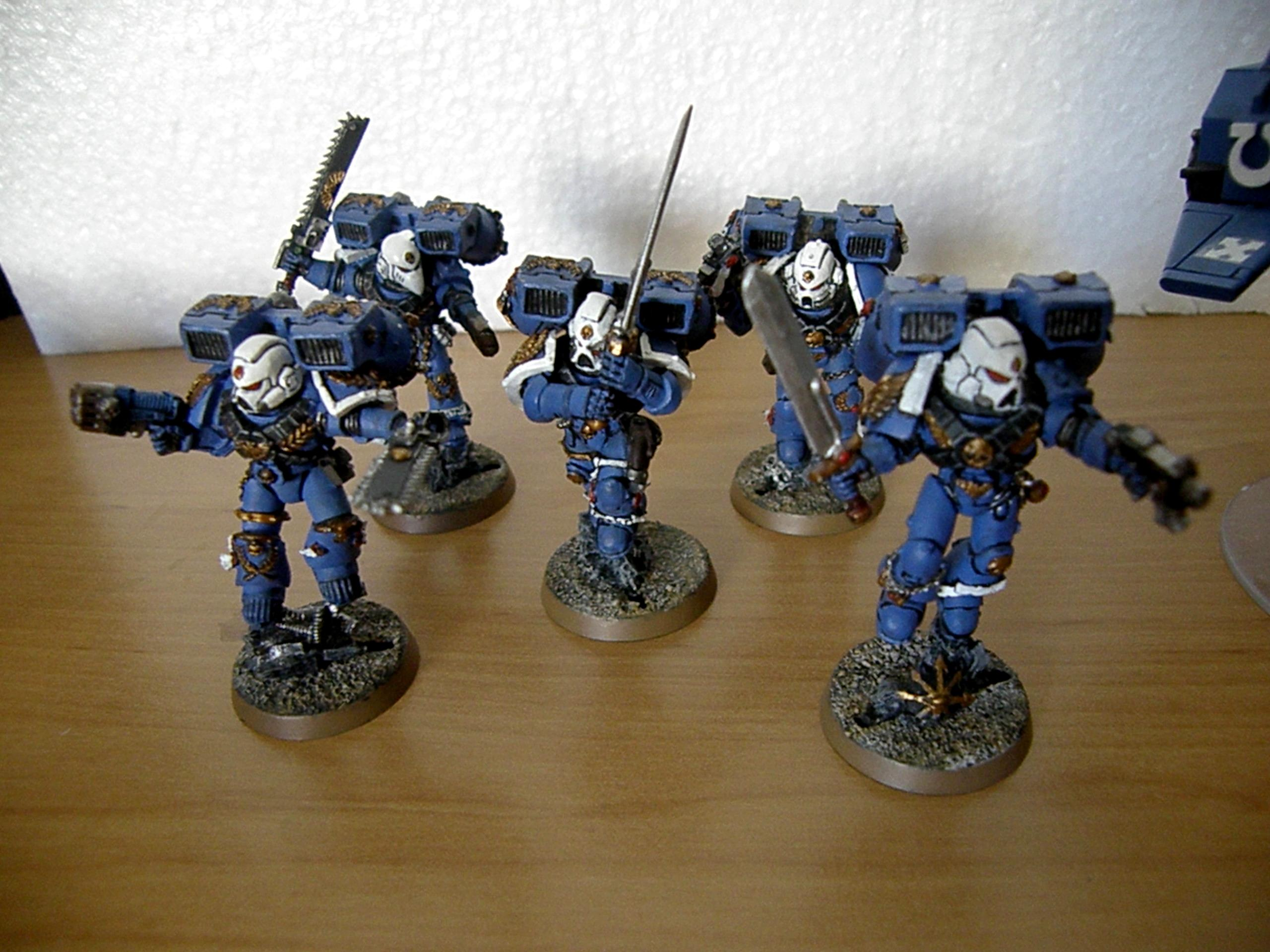 1st Company, Blue, First Company, Jump, Jump Pack, Packs, Space, Space Marines, Ultramarines, Vanguard, Vanguard Veterans, Veteran, White, White Helmets