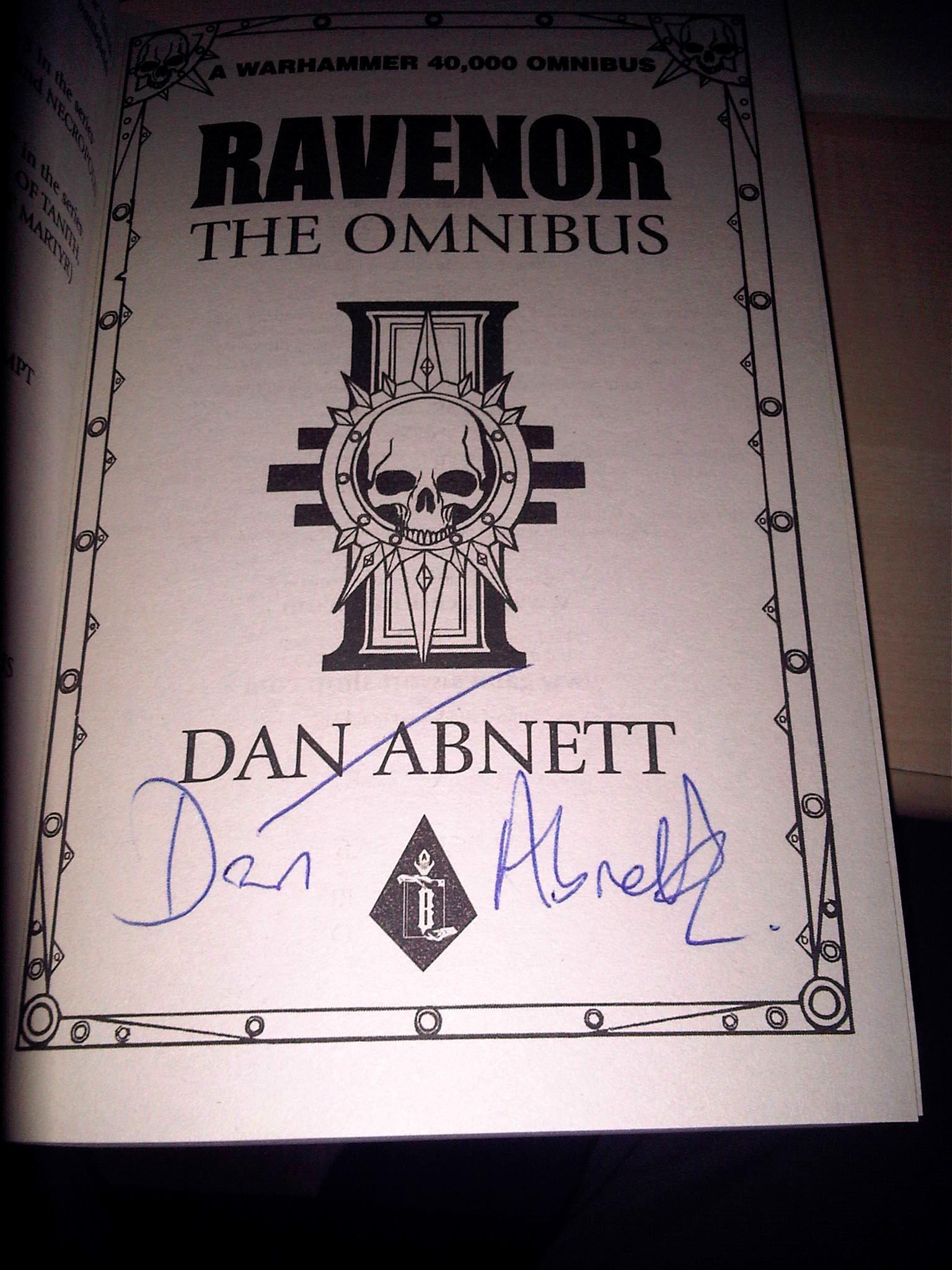 Aaron Dembski-bowden, Black Library, Dan Abnett, Signed Novels