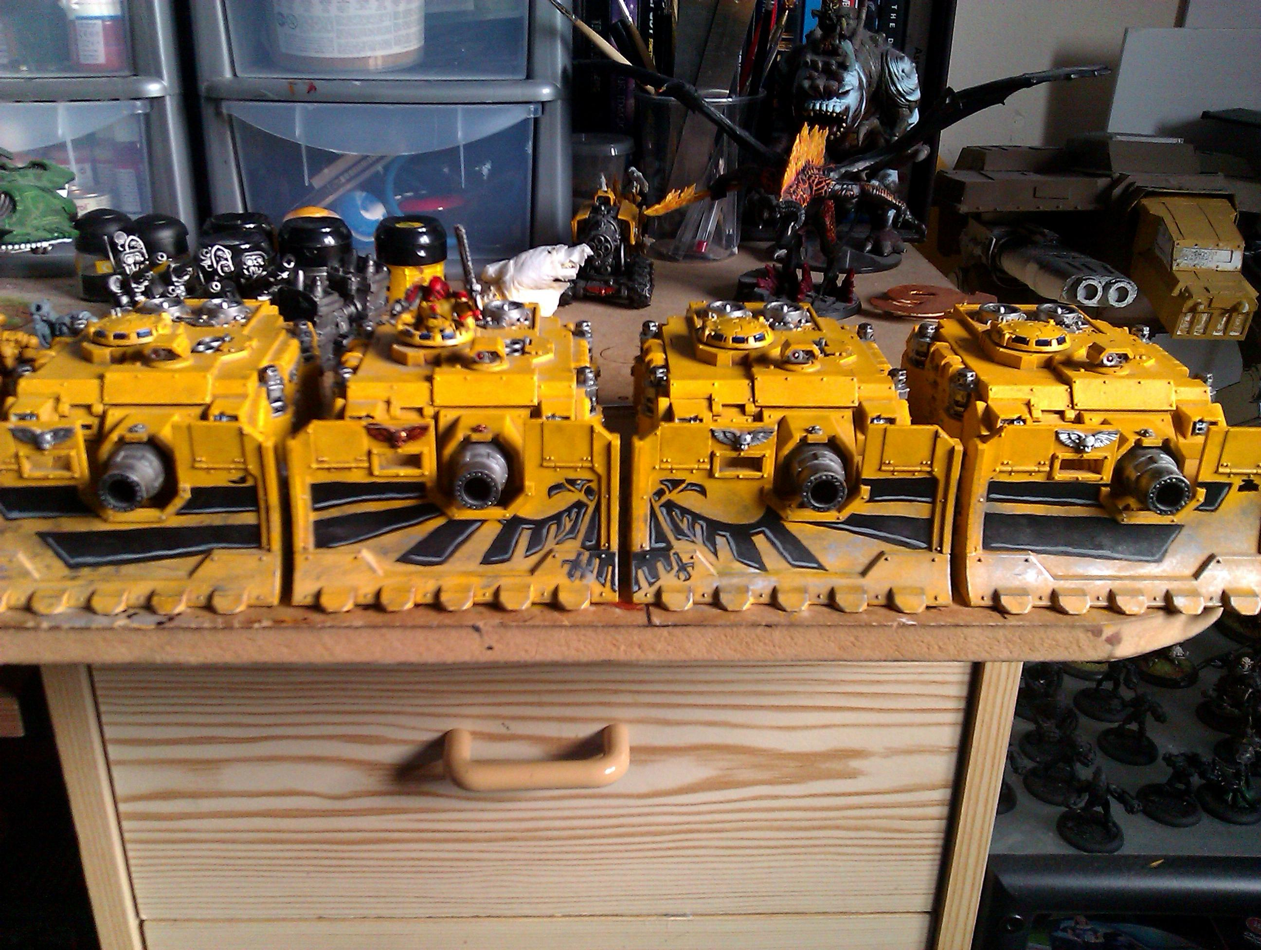 Imperial Fists, Linebreaker Squadron, Space Marines, Squadron, Tank, Vindicator