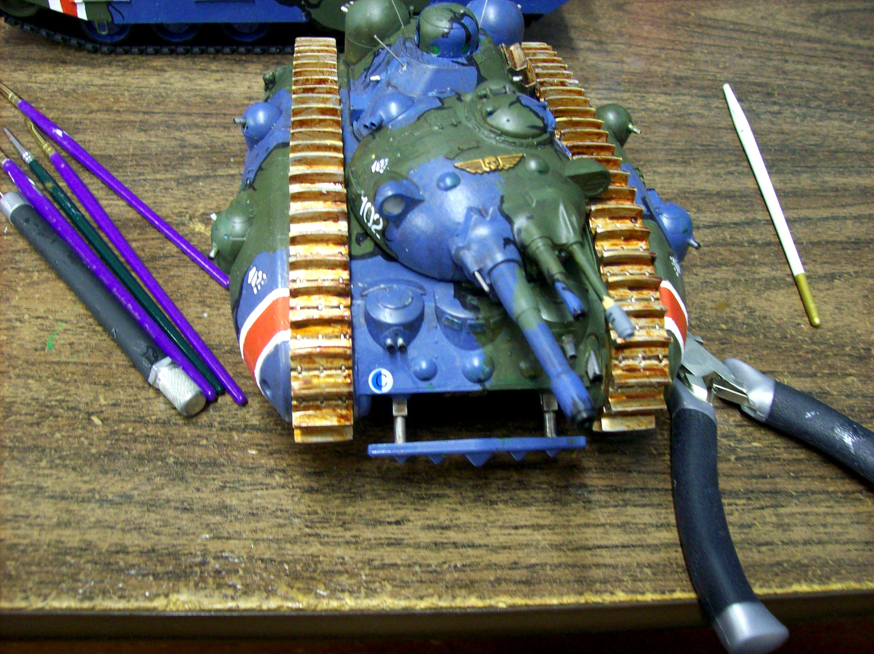 Anime, Bag Guy No 1, Camouflage, Conversion, Imperial Guard, Rams, Tank