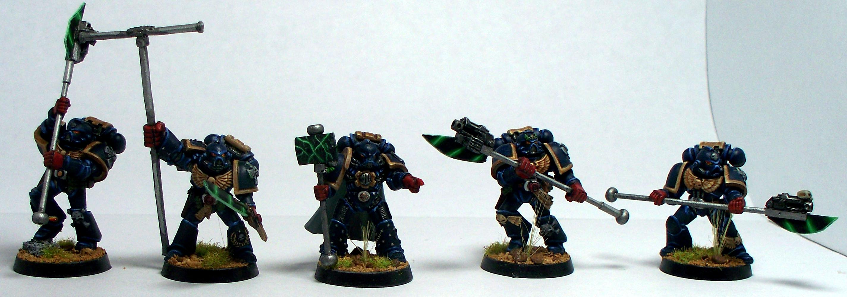 Chapter Champion, Crimson Fists, Honor Guard, Imperium, Space Marines, Standard Bearer, Warhammer 40,000