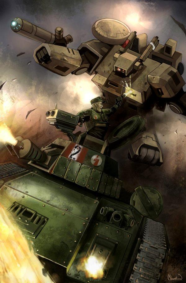 Artwork, Crisis Battlesuit, Hellhound, Tau