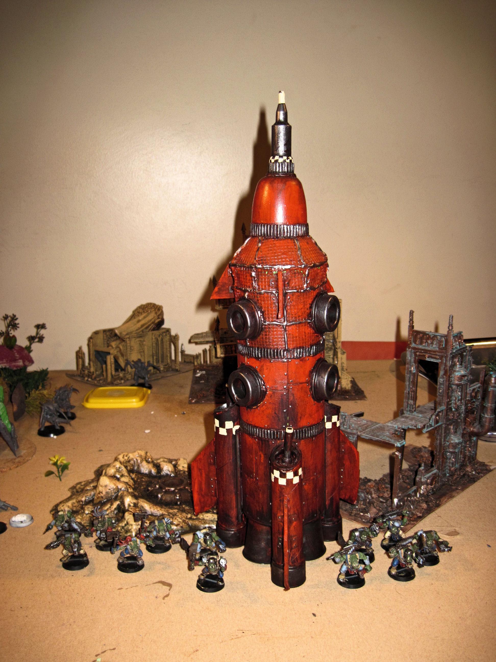 Boy, Conversion, Deathskulls, Orks, Pulsa Rokkit, Rokkit, Scratch Build, Vehicle, Warhammer 40,000, Wash, Work In Progress