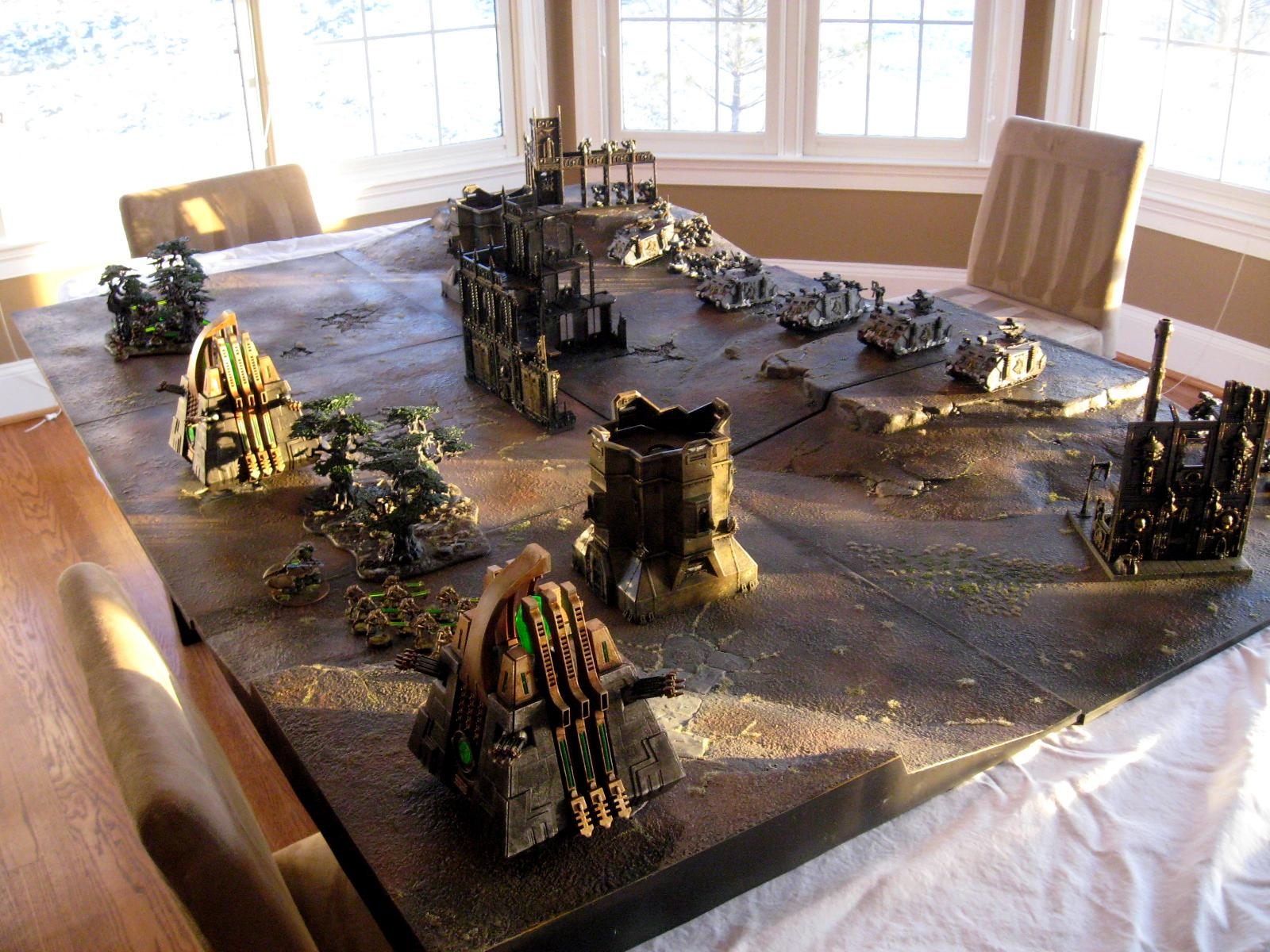 Necrons, Realm Of Battle Board, Space Wolves