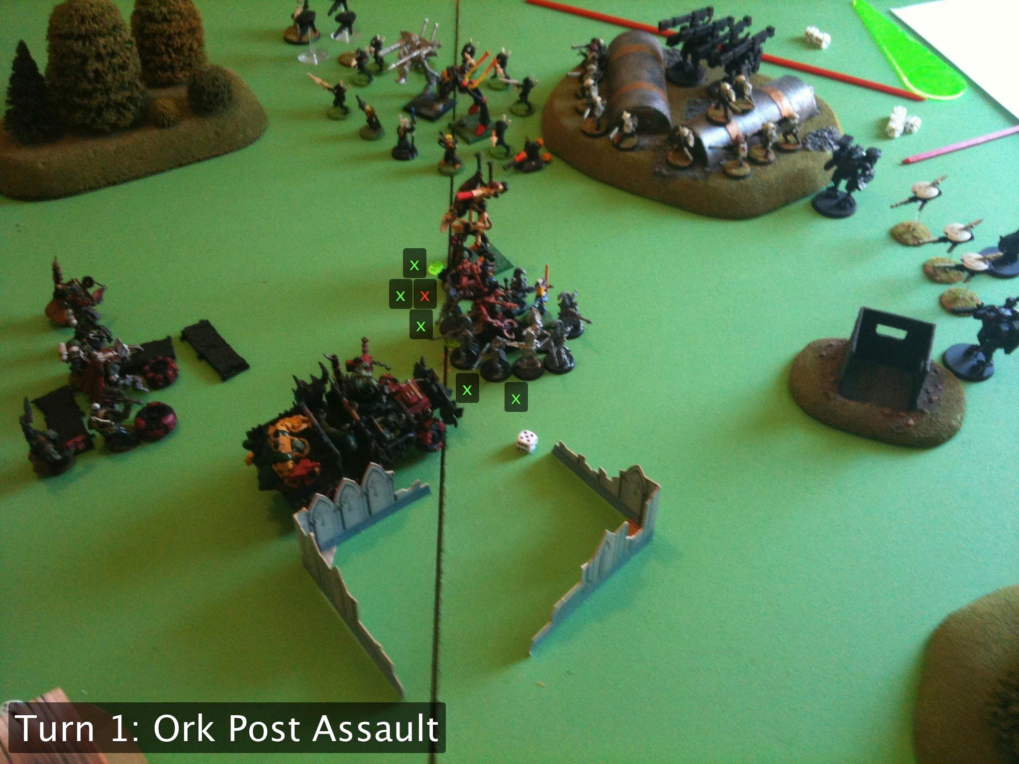 Battle Report, Da Ork Angelz, Eldar, Orks, Tau
