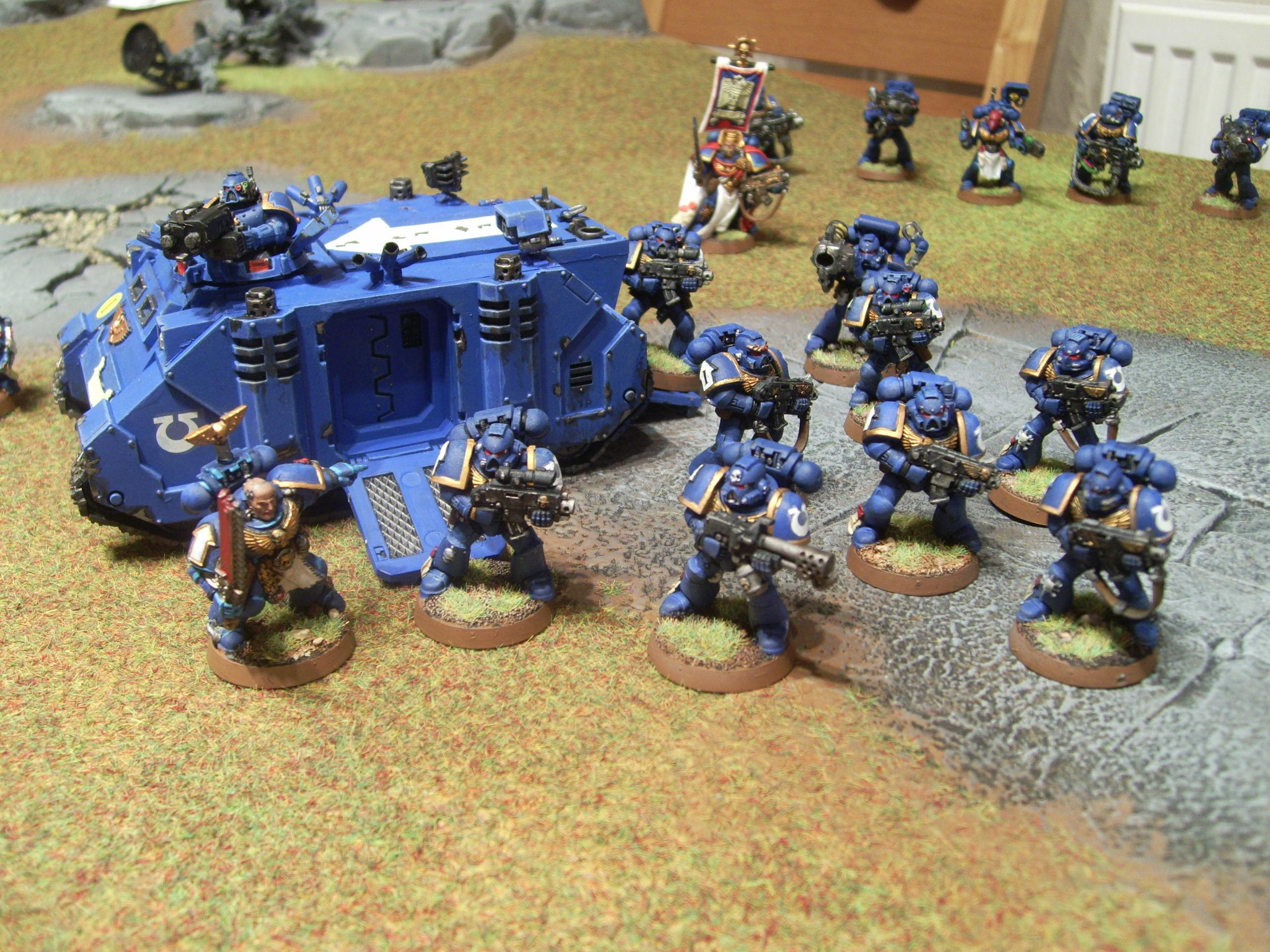 Assault On Black Reach, Rhino, Space Marines, Tactical Squad
