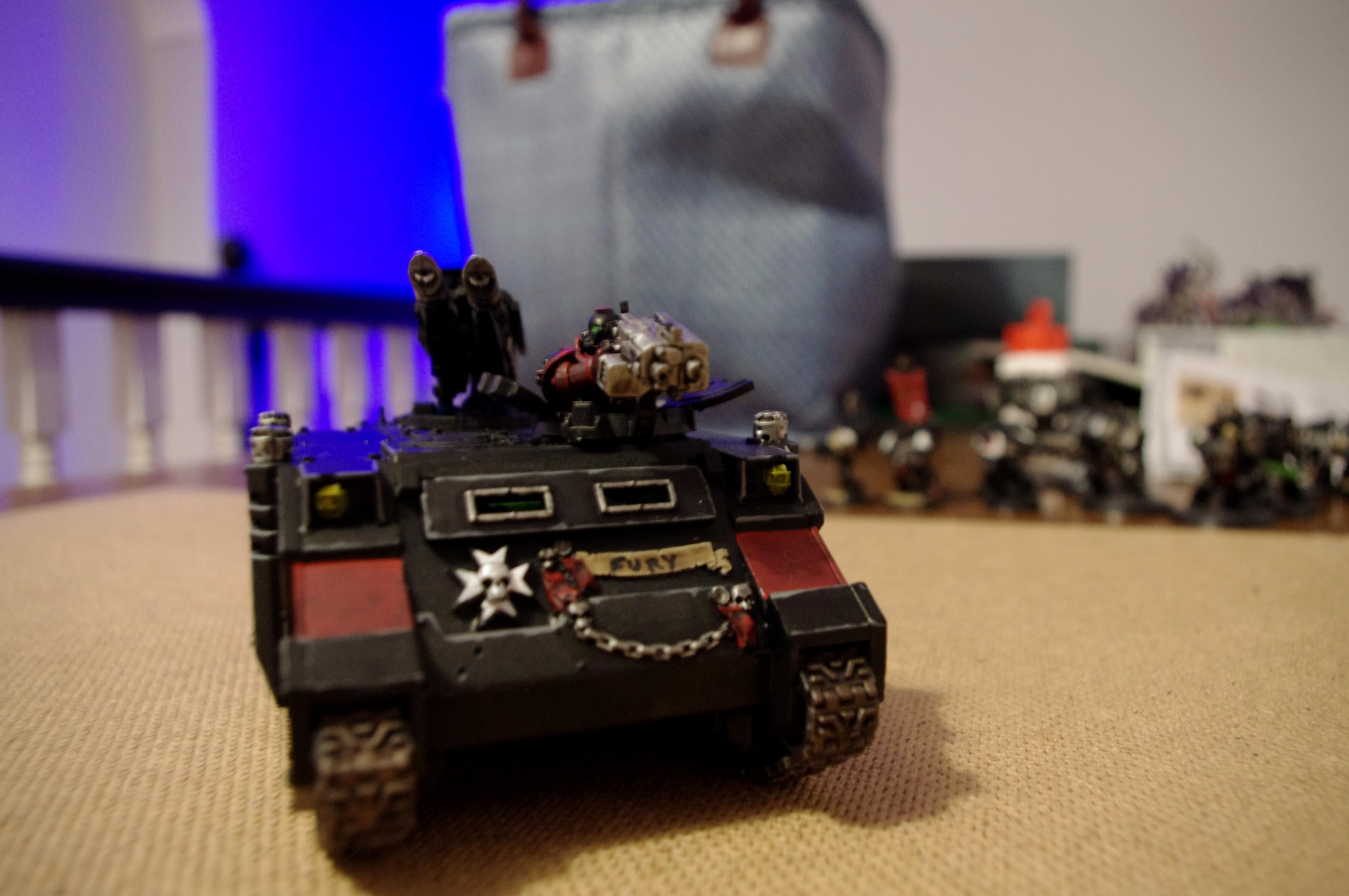 Black Templars, Crusade, Lascannon, Razerback, Rhino, Space Marines, Upgrade Sprue, Warhammer 40,000