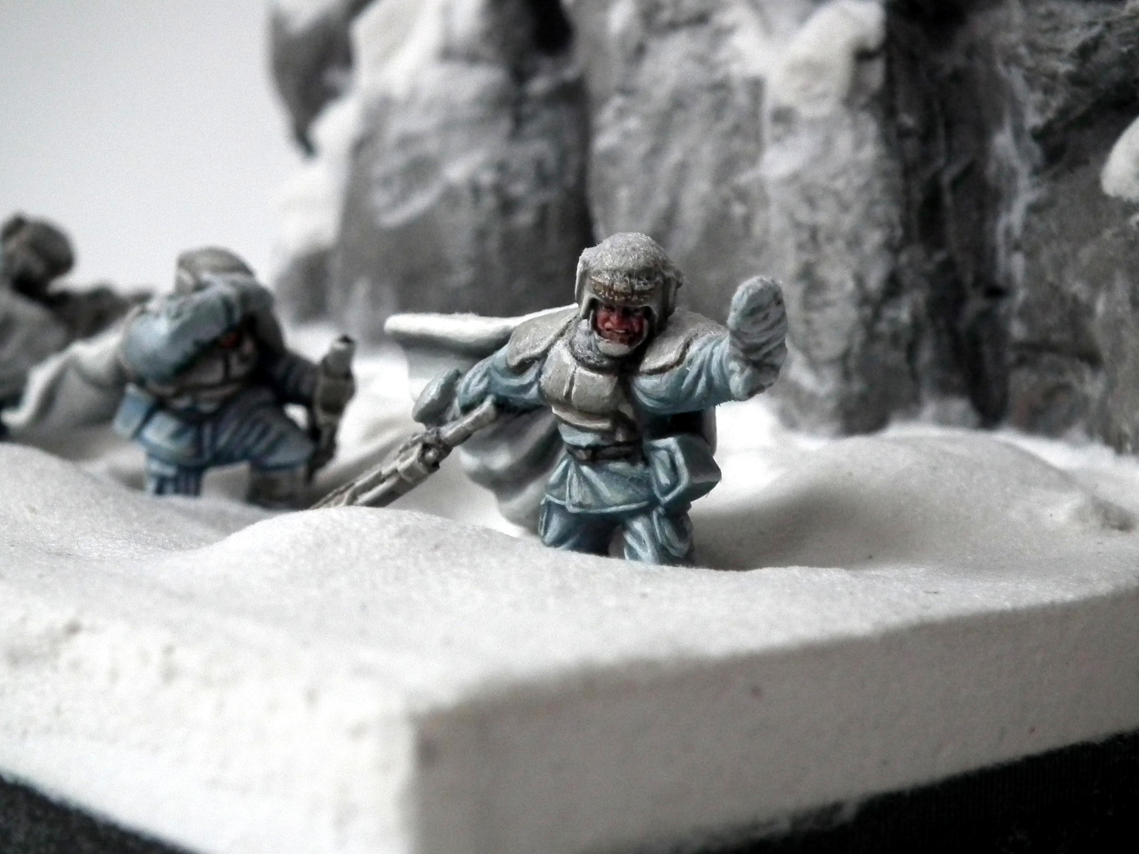 Ambush, Ameazing, Camouflage, Diorama, Duel, Hills, Imperial Guard, Nice, Pathfinders, Perfect, Pva, Snow, Warhammer 40'000, Warhammer 40,000, White, Wind, Winter