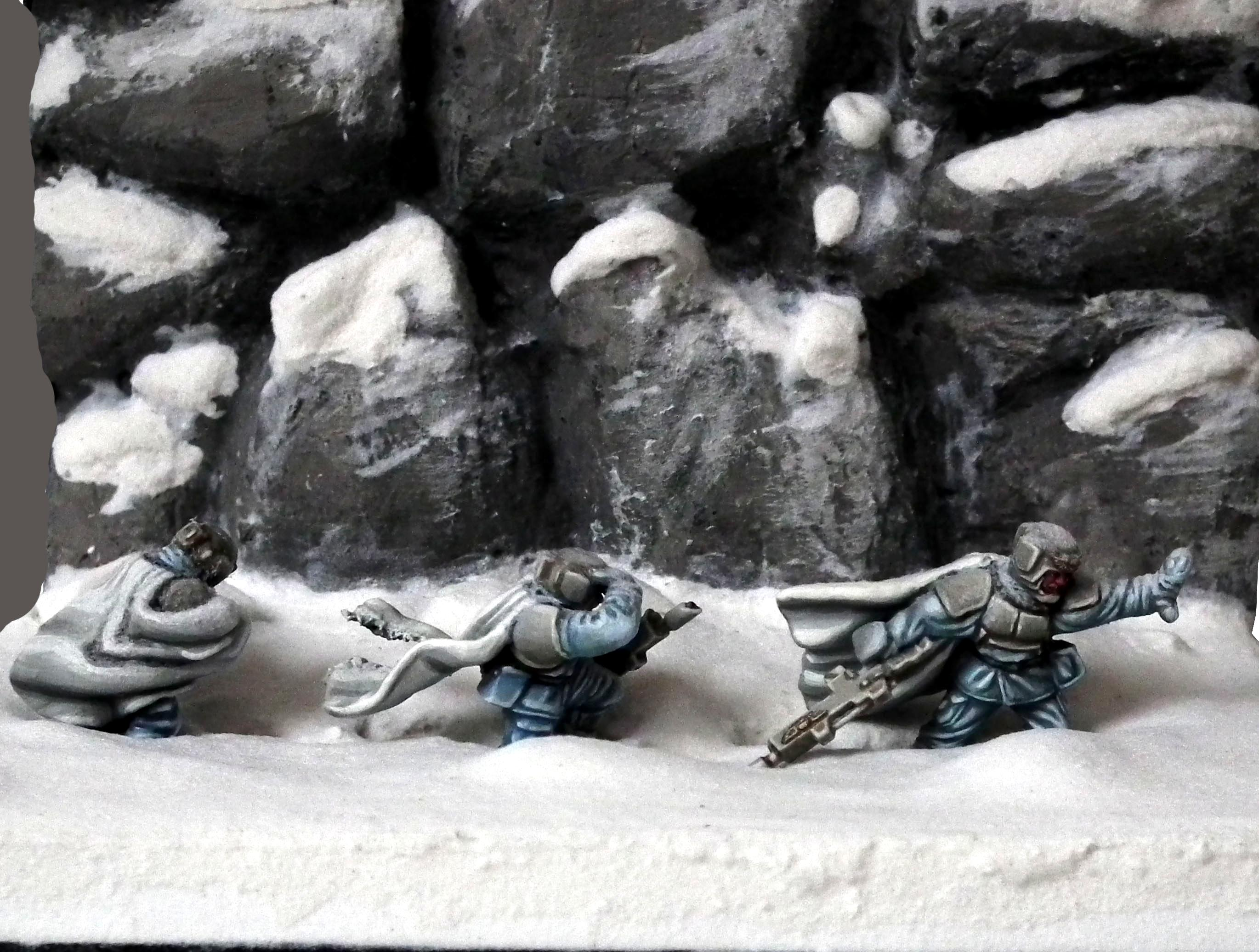 Ambush, Ameazing, Camouflage, Diorama, Duel, Duell, Hills, Imperial Guard, Nice, Pathfinders, Perfect, Pva, Snow, Warhammer 40'000, Warhammer 40,000, White, Wind, Winter