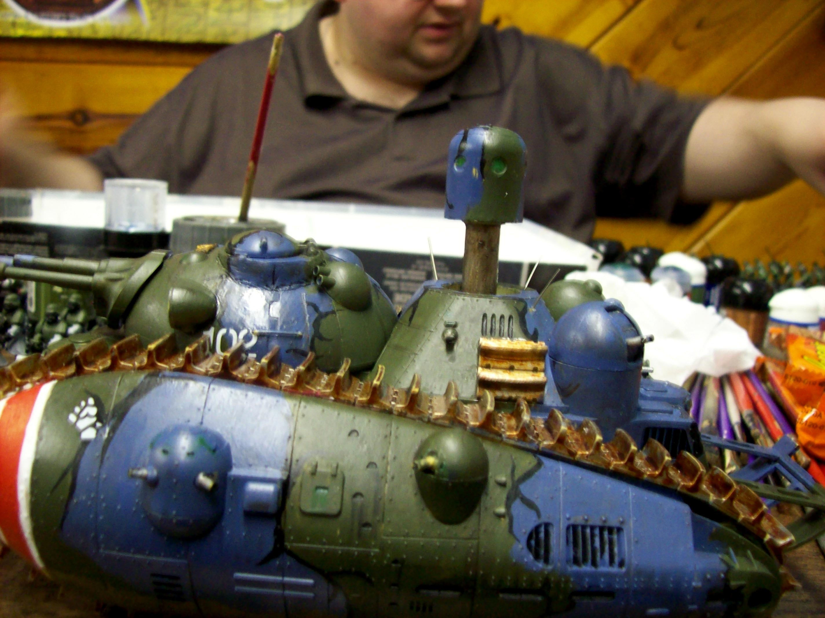 Anime, Camouflage, Imperial Guard, Super-heavy, Tank