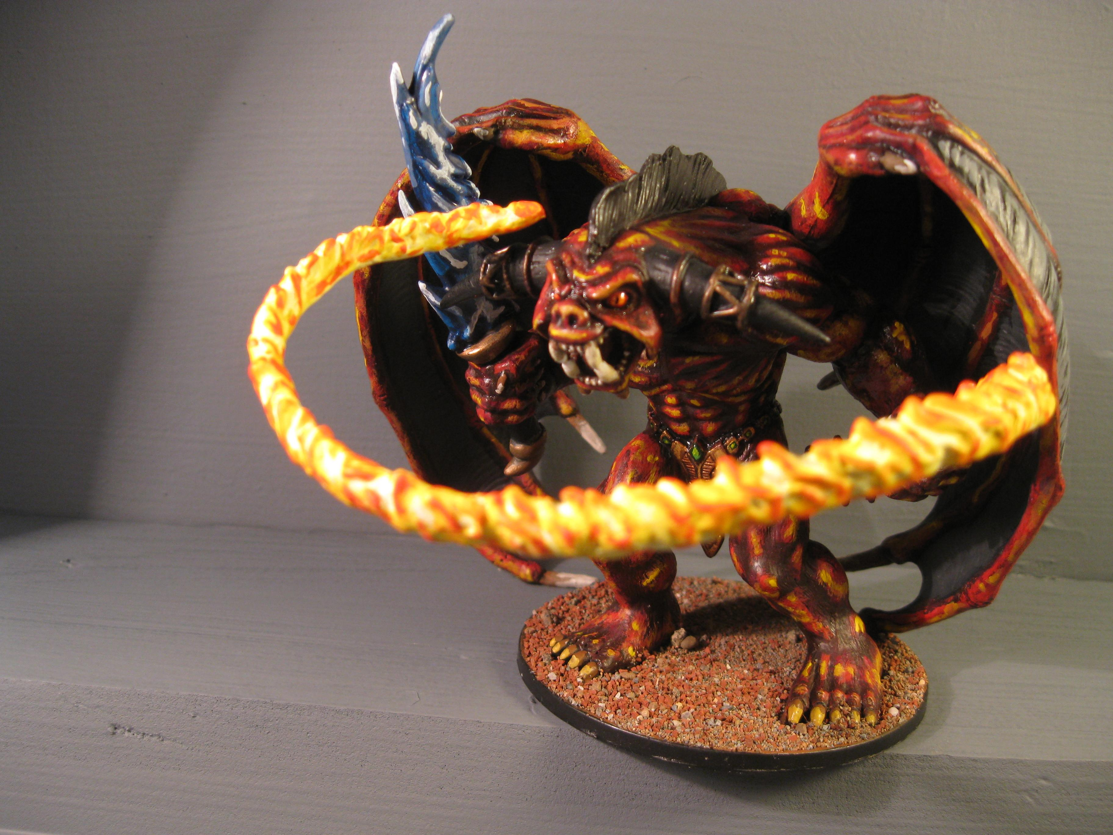 Balrog, Bloodthirster, D, Daemons, Pro Painted, Rpg
