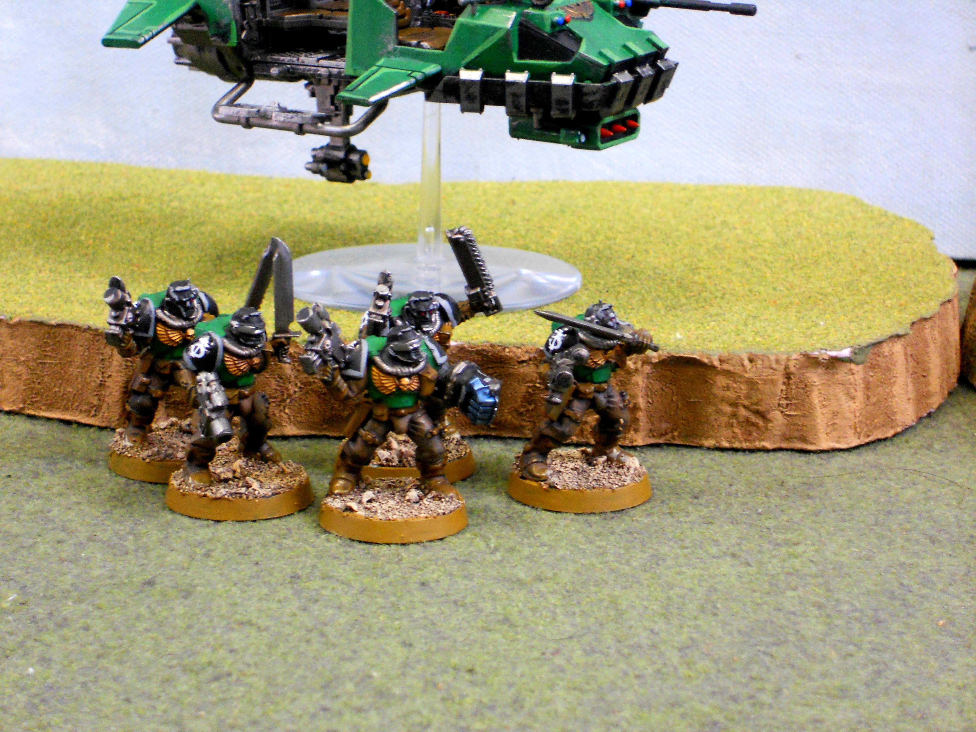 Land Speeder Storm, Salamanders, Scouts, Space Marines