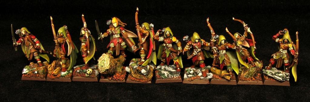 Archers, Bow, Cloak, Hood, Wood Elves