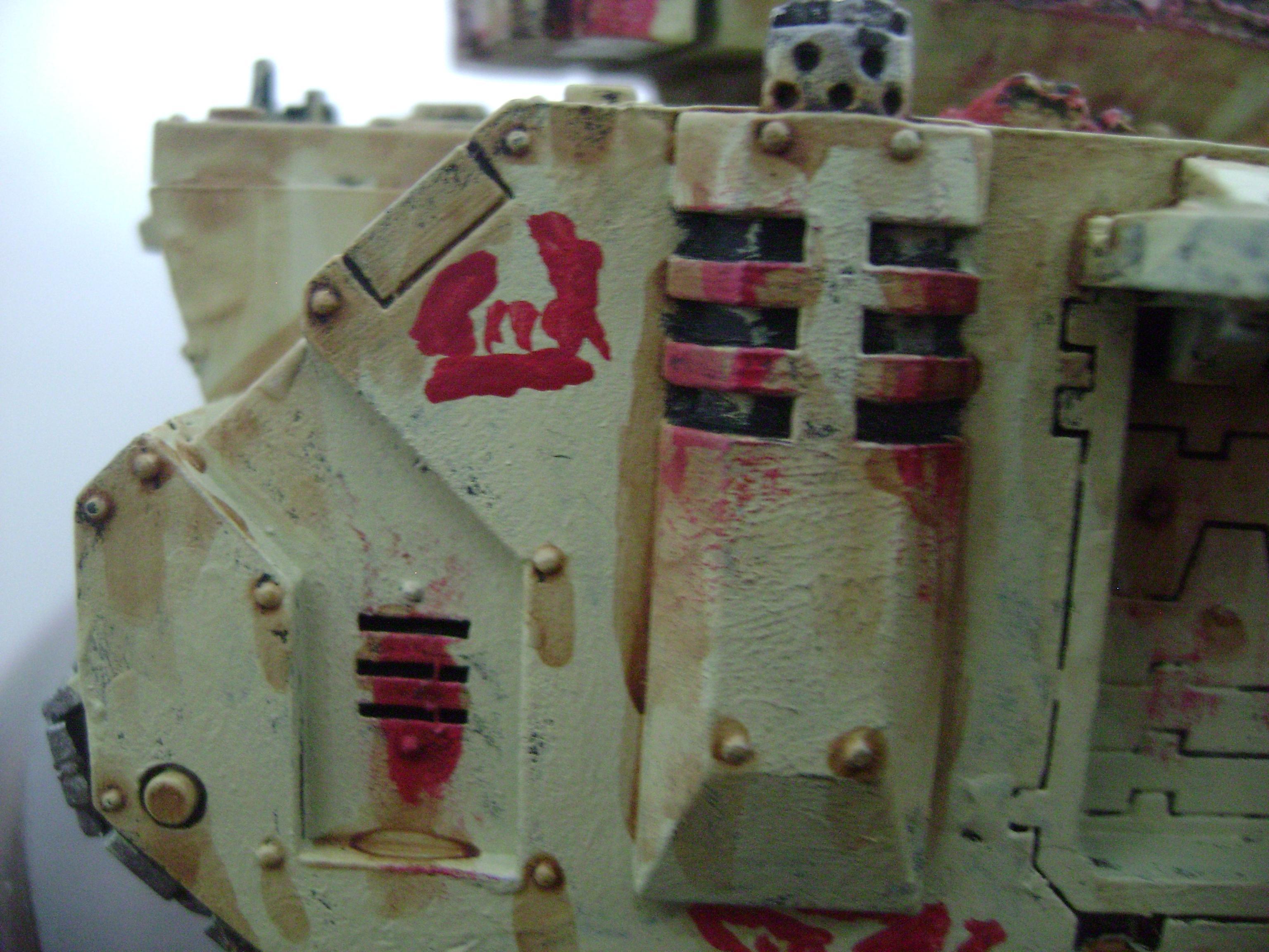 Ork Looted Tank Chaos Space Marine Predator Graffiti