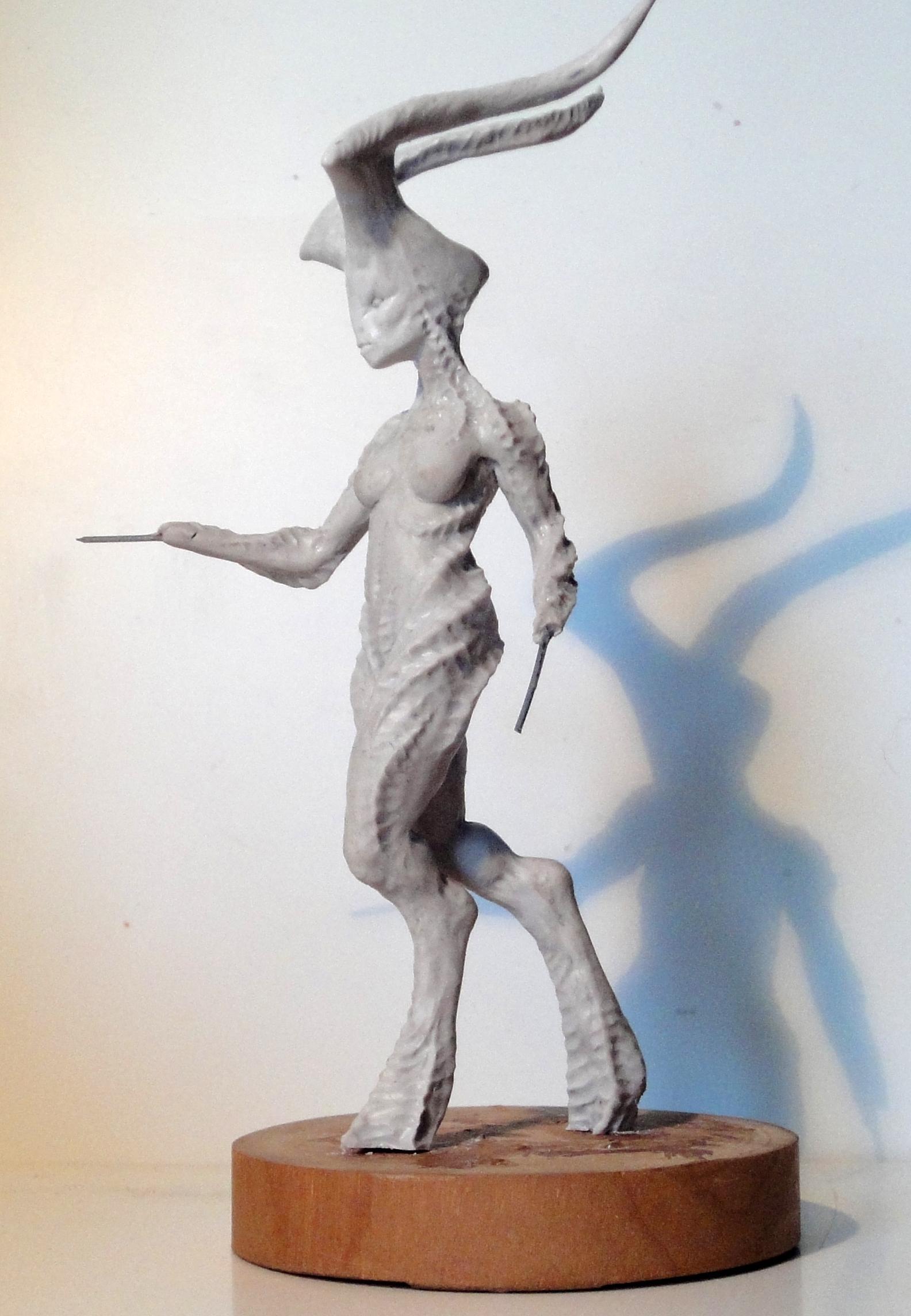 Keeper Of Secrets, Sculpting, Work In Progress