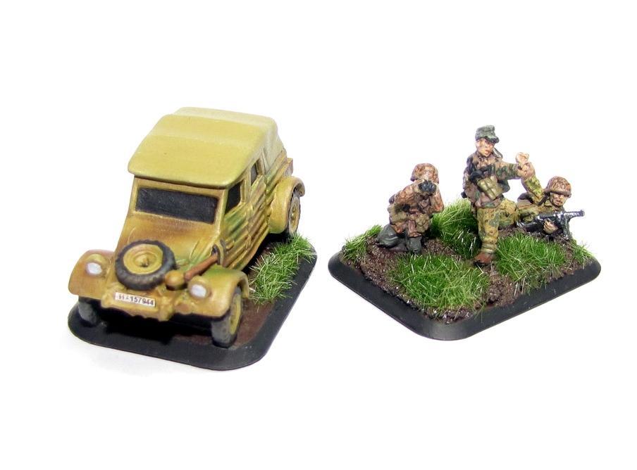 Flames Of War, Germans, Kubelwagon, Pak40, Ss, World War 2