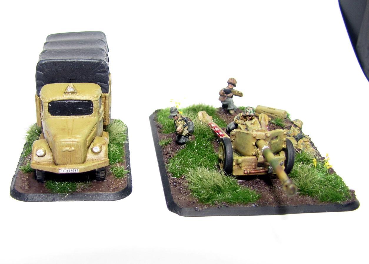 Flames Of War, Germans, Opel Blitz, Pak40, Ss, World War 2