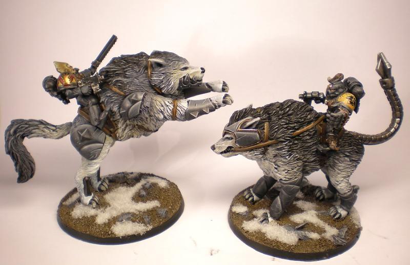 Warhammer 40,000 Space Wolf Thunderwolf Cavalry Bits
