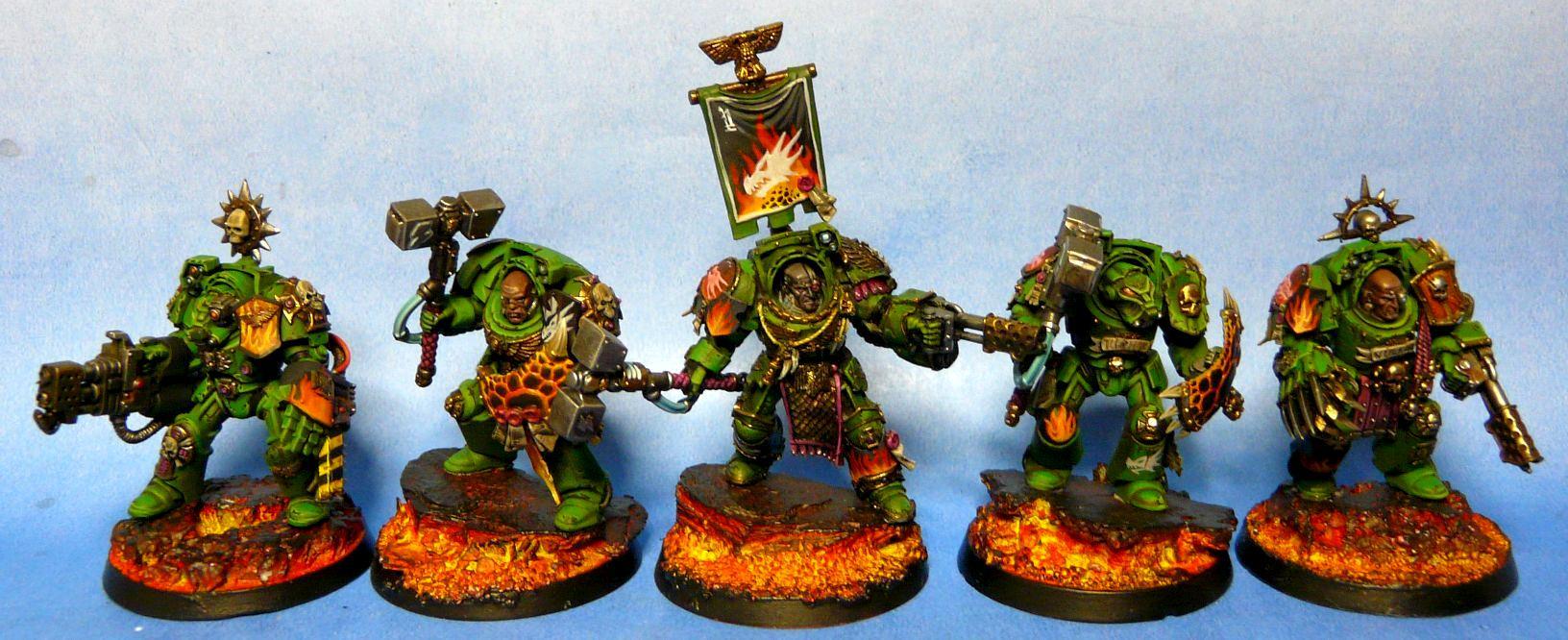 Badab War, Salamanders, Space Marines, Terminator Armor