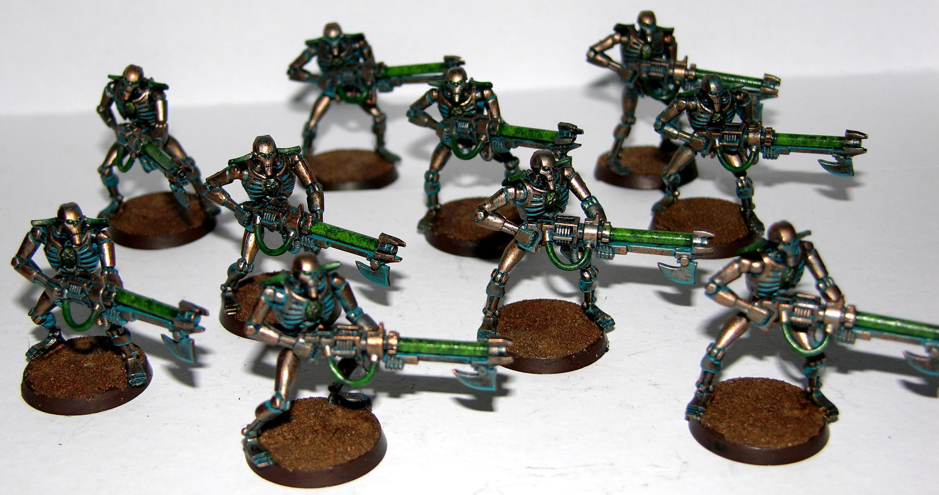 Necrons, Warriors, Warrios - Green Squad