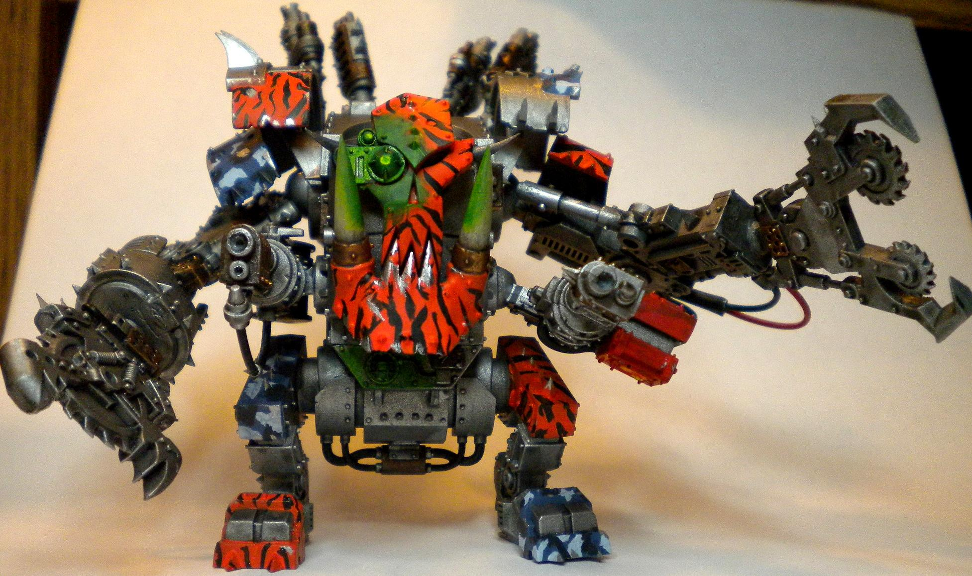 Blood Axe, Camouflage, Death Dread, Deff Dread, Dreadnought, Orks