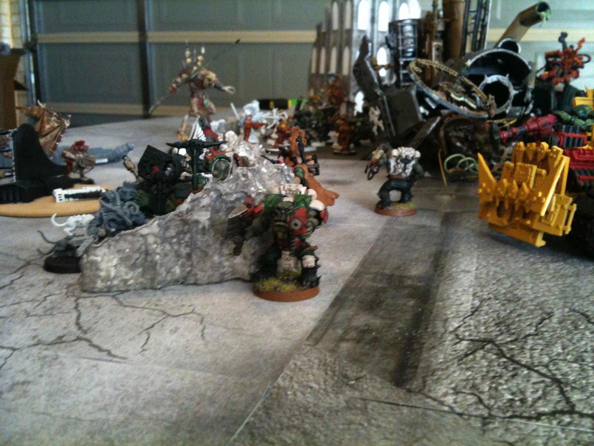 Battle Report, Da Dark Angelz, Orks, The Skave