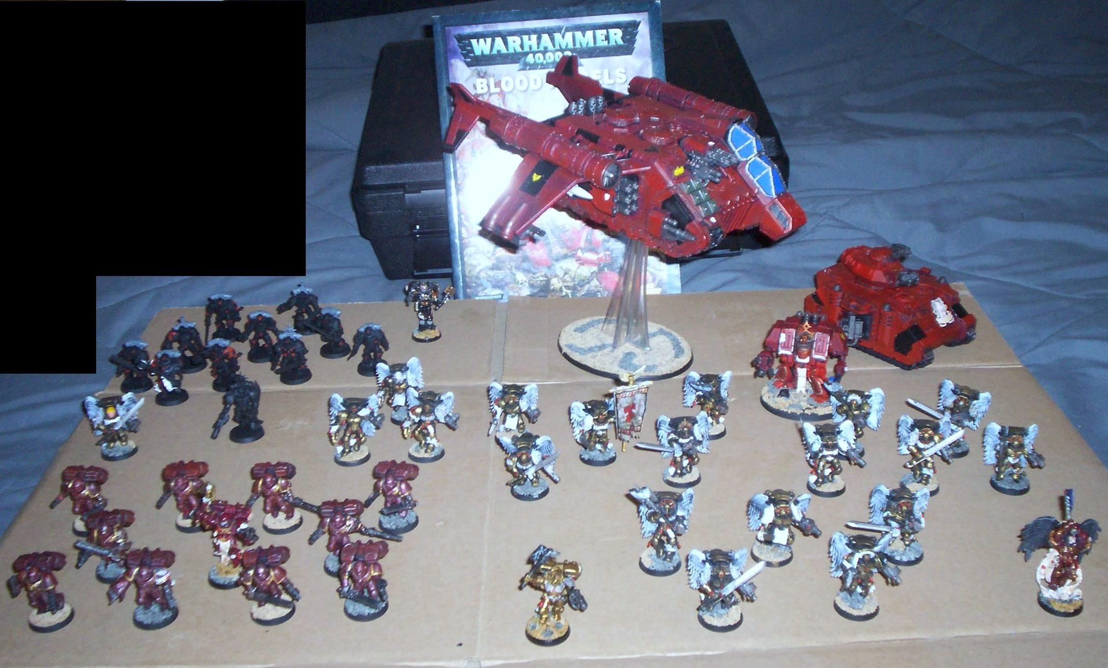 Blood Angels, Conversion, Flyer, Infantry, Rhino, Space Marines, Stormraven, Vindicator