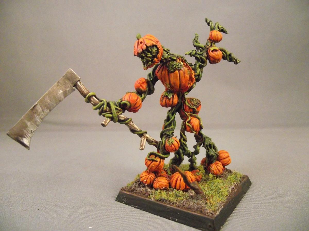 Dryad, Golem, Halloween, Pumpkin, Reaper, Treeman