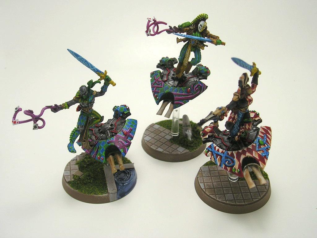 Eldar, Harlequins, Jetbike, Warlock