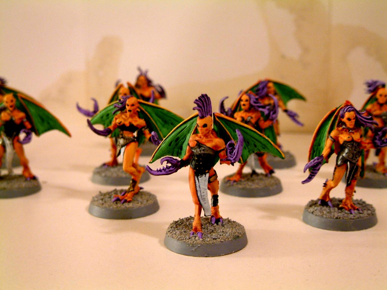 Chaos, Classic, Daemonettes, Daemons, Fiends, Green, Old, Orange, Out Of Production, Purple, Slaanesh, Warhammer 40,000
