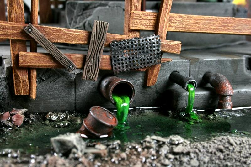 Goff, Lighted, Orks, Scratch Build, Space Ork, Terrain, Toxic