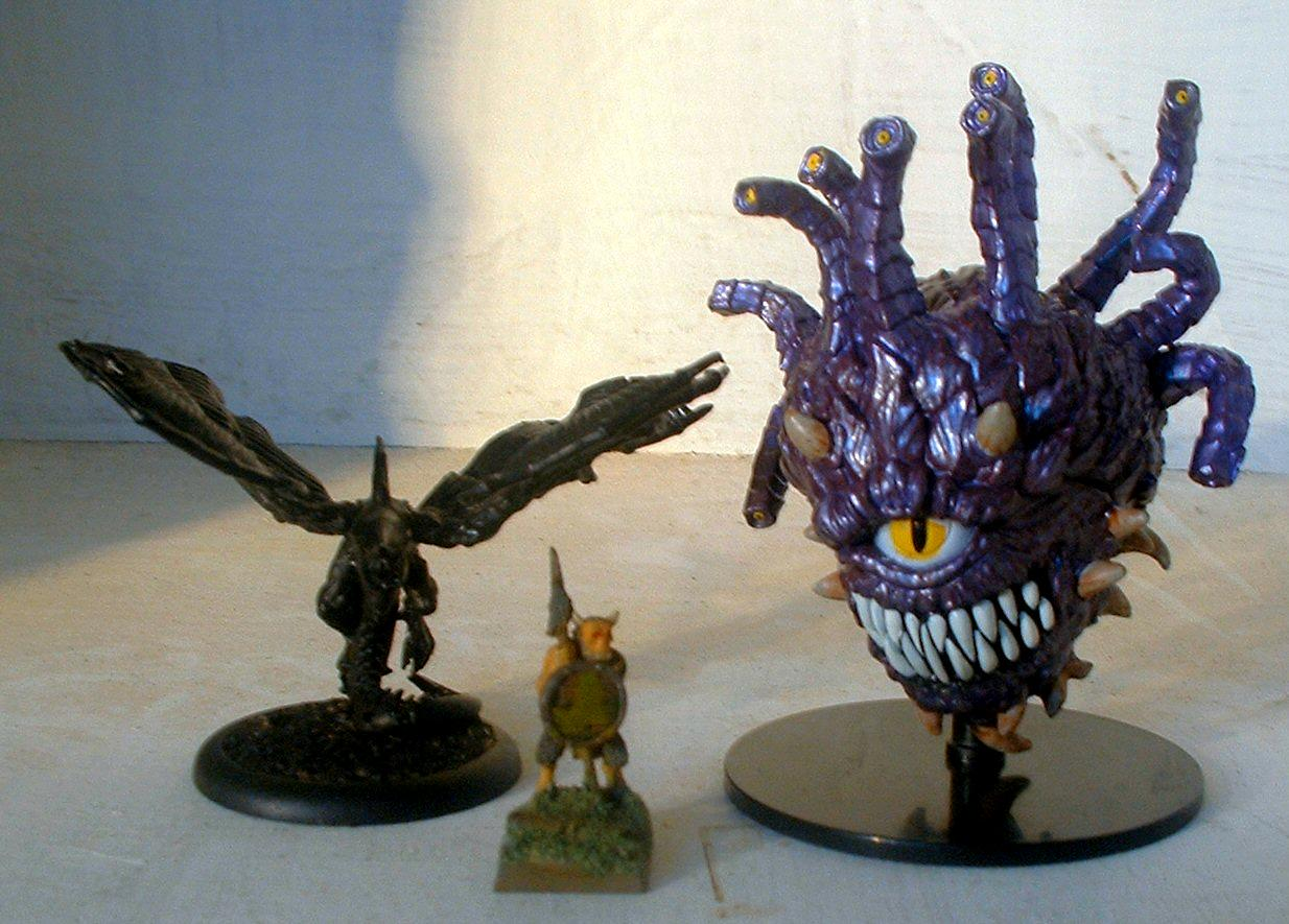 Cygor (Beholder) and Jabberslythe (Seraph) with Ungor for Comparison