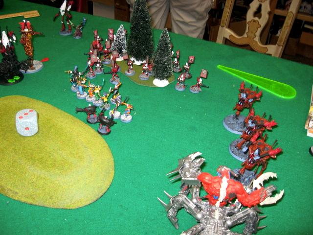 Battle Report, Daemons, Eldar, Warhammer 40,000