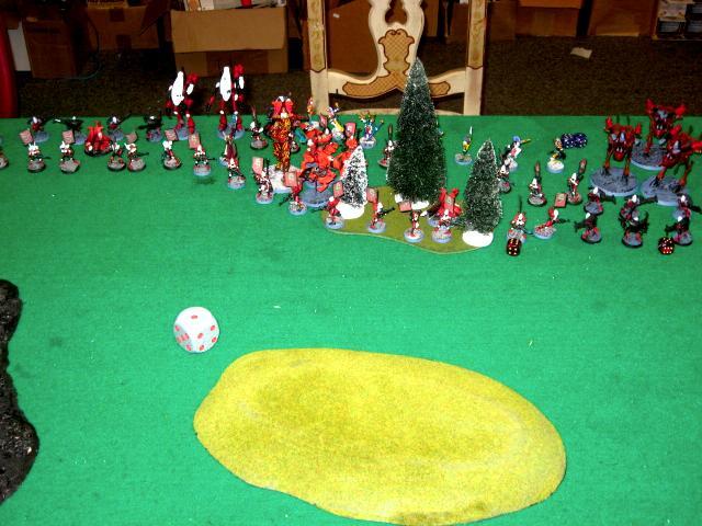 Battle Report, Daemons, Eldar, Warhammer 40,000