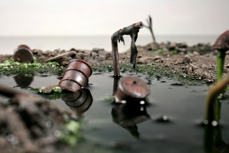Barrels, Dump, Ooze, Scratch Build, Terrain, Toxic, Waste