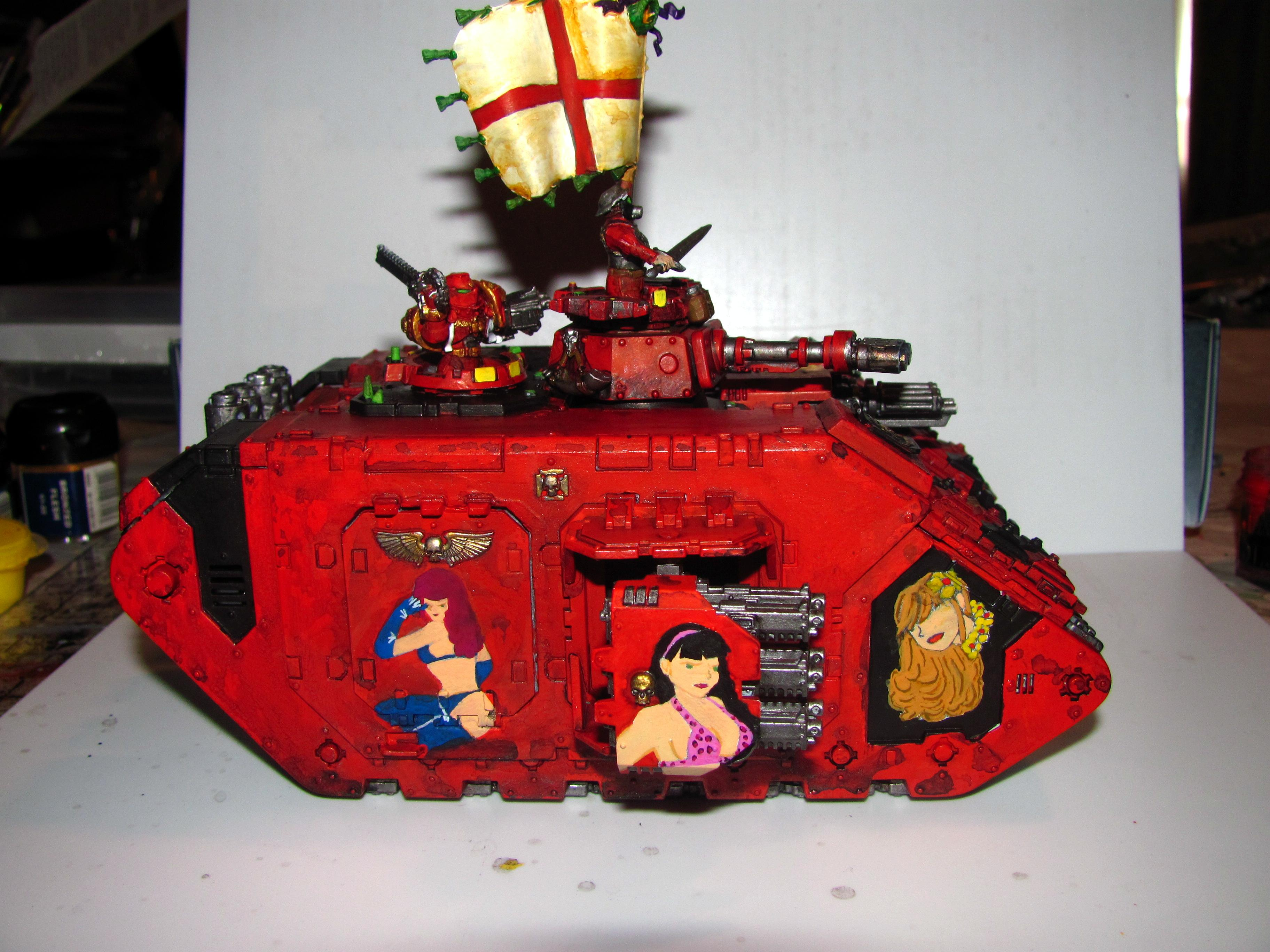 Freehand, Land Raider, Nose Art, Space Marines